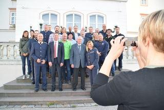 Beim Vernetzungstreffen in Tulln: NÖ Landespolizeidirektor Konrad Kogler (li.) - Bezirkspolizeikommandantin Sonja Fiegl (re.)