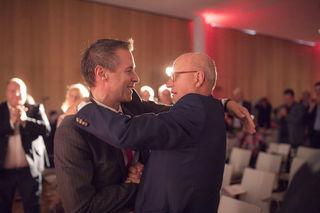 Amstübergabe im ÖGB Salzburg: Peter Eder löst Siegfried Pichler als Landesvorsitzenden ab.