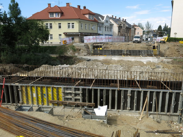 Die Baustelle an der Glanbrücke ist fast beendet