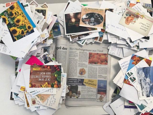 In den Bezirksblättern wurden die Gewinnspiele angekündigt, eine Teilnahme war per Postkarte und online möglich.