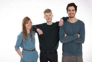 Navina Pernsteiner, Jona Christians und Laurin Hahn sind gemeinsam das Startup Sono Motors.