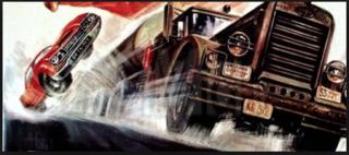 """""""Duell"""" wie aus dem gleichnamigen Blockbuster: Auto gegen Lastwagen!"""