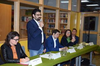 Am Podium diskutierten (v.l.n.r.) Elisabeth Pfurtscheller, Süleyman Kilic, Fabian Walch, Claudia Melmer und Johannes Tilg.