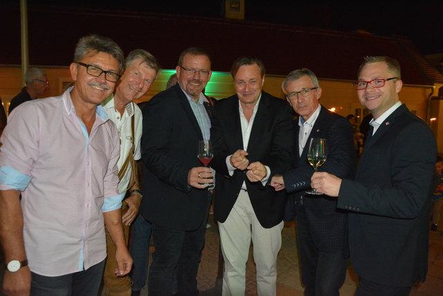 Peter Harrer, Herbert Eidelpes, Christian Balon, Klaus Frank, Josef Schimmer und Erich Stubenvoll