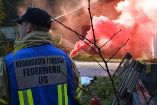 Viel Rauch, viel Feuer, noch mehr Herausforderungen: Der BFV Kufstein sorgte für einen abwechslungsreichen Übungstag am Eiberg.
