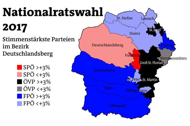 So haben die Gemeinden im Bezirk Deutschlandsberg gewählt.