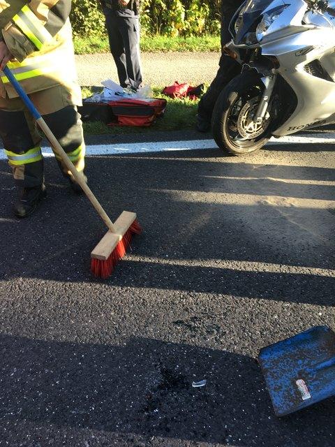 Die Unfallstelle wurde von den Einsatzkräften gesäubert.
