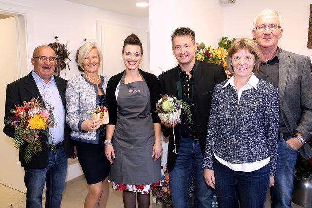 Bürgermeister Franz Kreimer, Theresia Kreimer, Helene Gangl, Vizebürgermeister Christian Lammer, Silvia Ederer und Walter Ederer.