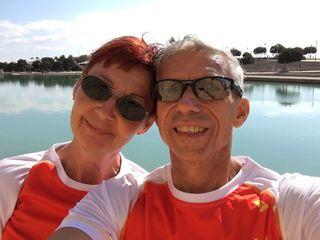 Helga und Josef Fändrich starteten über zehn Kilometer in Palma de Mallorca.