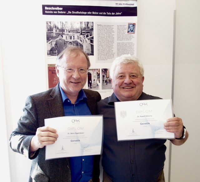 Kinderarzt Dr Heinz Eggenbauer und der Gynäkologe Dr Rudolf Wiborny