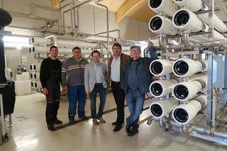 Wassermeister Mathias Stöger, Wassermeister Anton Wagensonner, Bgm. Wolfgang Benedikt, Bgm. Franz Stöger, Wassermeister Franz Leuthner