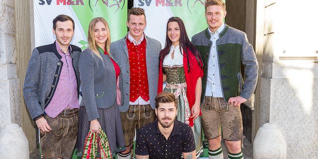 Models: Mario Antunovic, Lisa Tammegger, Dario Pick, Nicole Collino, Sebastian Schmid (v. l.) und Raphael Regenfelder