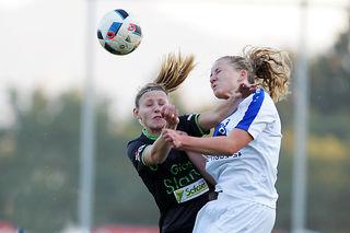 Die Kötz-Haus Ladies Preding (r.) und Hof bei Straden begegneten sich im Landesliga-Spitzenspiel auf Augenhöhe.