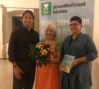 Andreas Linhart, Elisabeth Fischer und Vizebürgermeisterin Heidi Penker in Gmünd