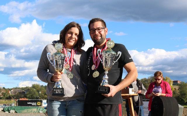 Die Einzelsieger: Desiree Riegler und Christoph Bedek.