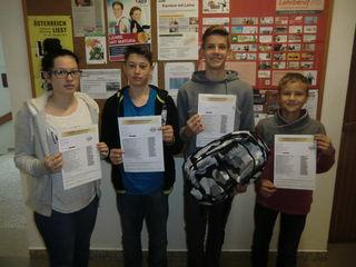 Johanna Jungwirth, Sebastian Haneder, Tim Oberleitner und Fabian Kloiber haben diese Urkunde bereits erarbeit!