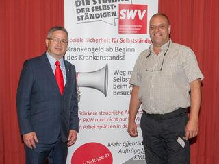 SWV NÖ-Präsident Thomas Schaden und Bezirksvorsitzender Karl Kraft