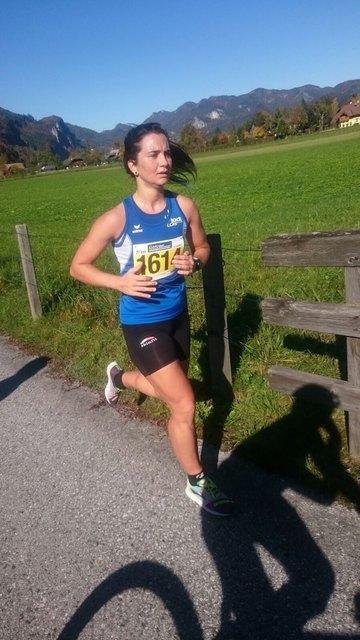 Tina Gebesmair lief beim Wolfgangseelauf zu Bronze.