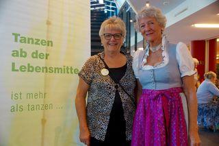 Anna Glanz Landesvorsitzende Salzburg mit Burgi Schneider, stellvertretende Vorsitzende des Bundesverbandes (v.l.).
