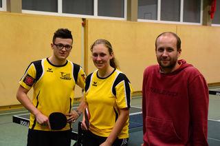 Gregor & Julia Hofbauer mit dem Profi-Trainer als Vorbereitung für die Stadtmeisterschaften (18.11.2017).