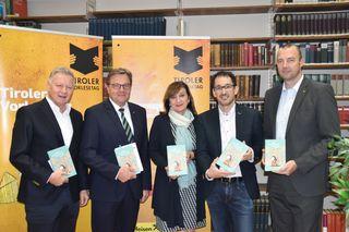 Helmuth Krieghofer (ORF), LH Günther Platter, LR Beate Palfrader, Markus Renk (WKO), CHristian Bevelander (RLB Tirol)