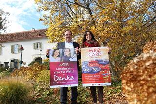 Mit Initiativen geben Axel Dobrowolny (Stadtmarketing) und Alexandra Neuhold (Einkaufsstadt) dem Weizer Handel Impulse.