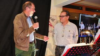 Seilbahner Hans Rubatscher (li.) gratulierte Armin Falkner.