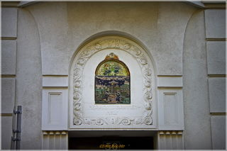 Das Herrgottsbrunnen - Relief am Haus Lange Gasse 50.