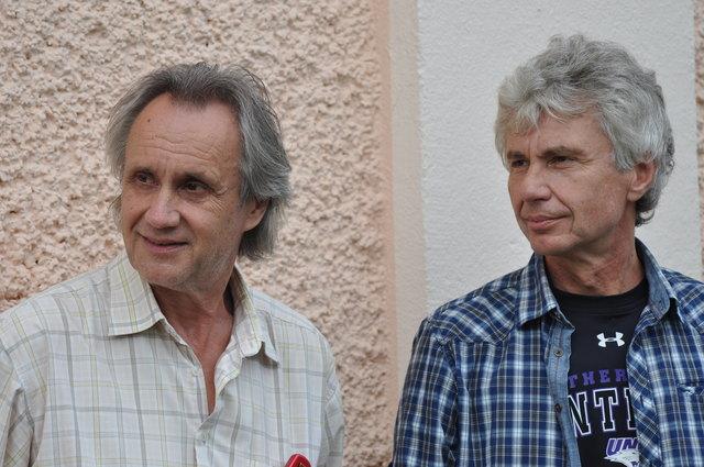 Brüder, in der Musik vereint: Hans (l.) und Werner Delanoy