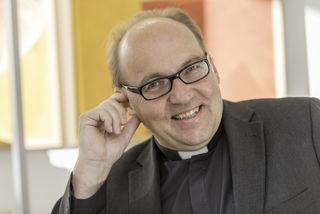 Bischof Hermann Glettler / Portraits / Interview Tiso mit Gilbert Rosenkranz  / Diözesanhaus, / 30.10.2017 / Diözese Innsbruck/Vanessa Weingartner-Rachlé