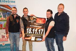 Thomas Reheis, Obmann Florian Thurner, Dominik Gastl und Erwin Luzian Bouvier jun. präsentierten das Programm des 22. Zammer Krampuslaufes.