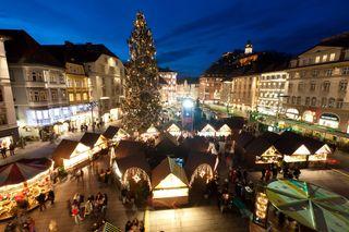 Der Christbaum am Grazer Hauptplatz kommt dieses Jahr aus Pischelsdorf.