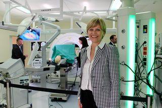 """Barbara Bittner, Rektorin FH Campus Wien im neuen """"OPIC """"- dem OP Innovation Center"""