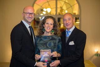 Jubiläum: Bernd Pürcher (l.), Nora Schmid und Wolfgang Hülbig