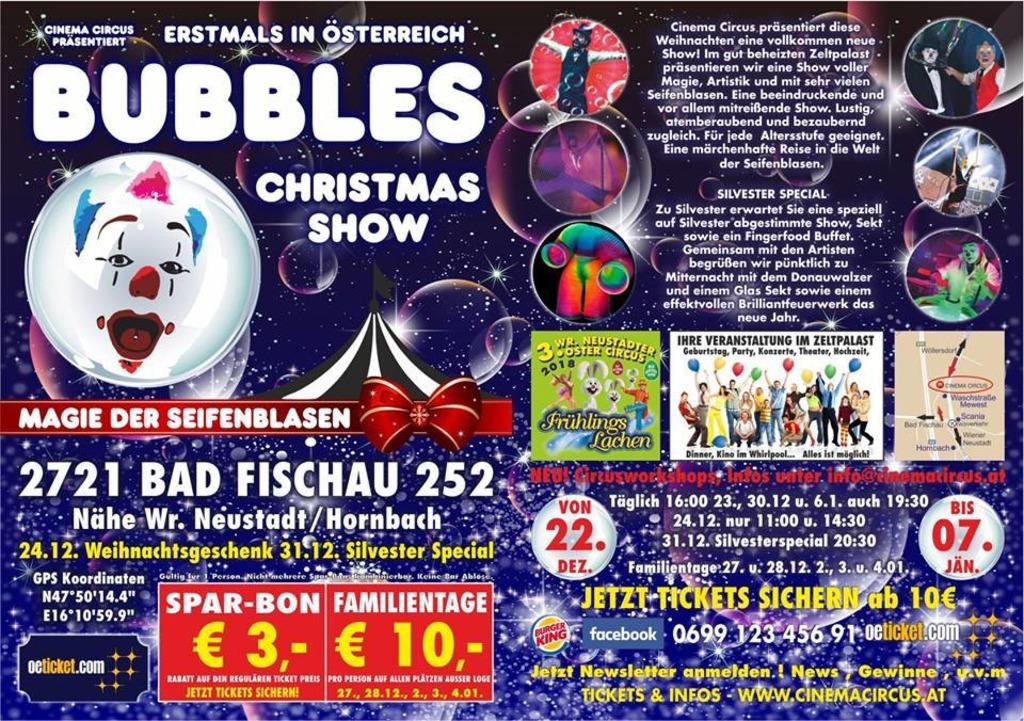 BUBBLES CHRISTMAS SHOW in BAD FISCHAU von 22.11.2017 - 7.1.2018 - Baden