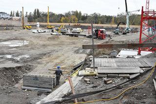 Auf der Erdberger Lände 36–38 ist der Bau in vollem Gange. Fertig soll das Gebäude 2019 sein.