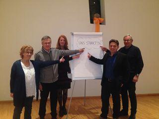 """Kernteam der Bürgerinitiative """"Uns stinkt's"""": Hans Hierzer, Gerald Passath, Hermine Arnold, Siegfried Arnold, Elke Zengerer"""