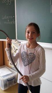Marie Münzberg (9) besuchte Angebote der Talenteschmiede Krems