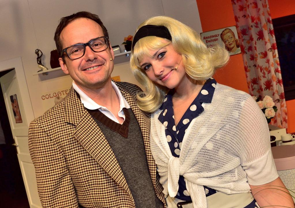 Nach der umjubelten Premiere: Michael Elsner und Heidelinde Wunderer.