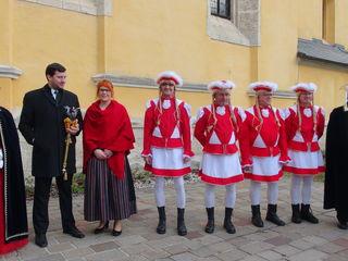 Die Prinzengarde mit Harald Prutsch, Klaus Angerbauer, Hans Töbich und Erwin Kainz