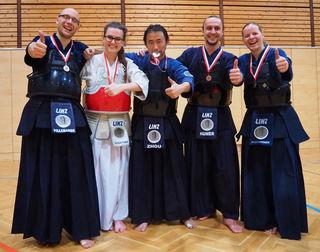 Die Bronze-Gewinner aus Linz.