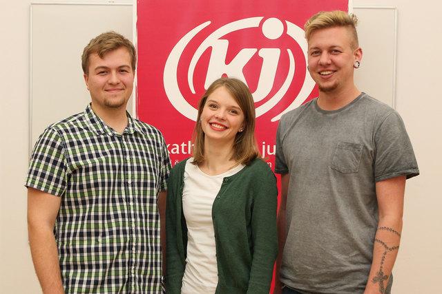 Die frischgebackenen Vorsitzenden der Katholischen Jugend: Fabian Amstler, Teresa Lueger und Christian Walzl.