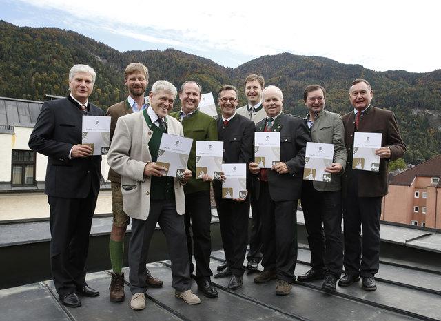 Bei der Konferenz der österreischen Landesjägermeister in Kufstein: der Kärntner Ferdinand Gorton (rechts)