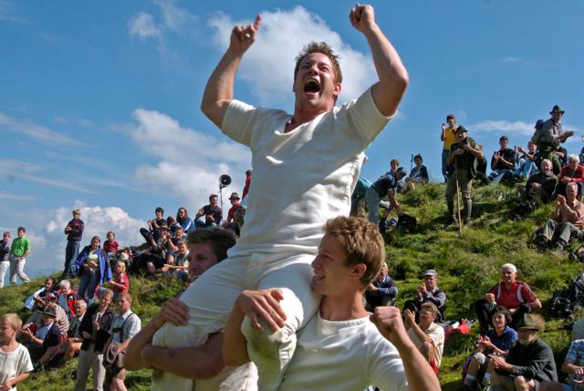 Rupert Riess bei einem seiner glorreichen Sieg auf dem Hundstein.