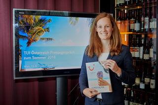 Lisa Weddig, Geschäftsführerin von TUI Österreich.