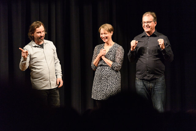 """Die Protagonisten des """"Theater im Bahnhof"""" begeisterten in Werndorf mit ihrer Improshow das Publikum."""