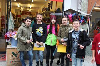 Schülerinnen und Schüler aus zwei italienischen Schulen traf sich mit ihren gleichaltrigen Kollegen in der NMS Egger Lienz.