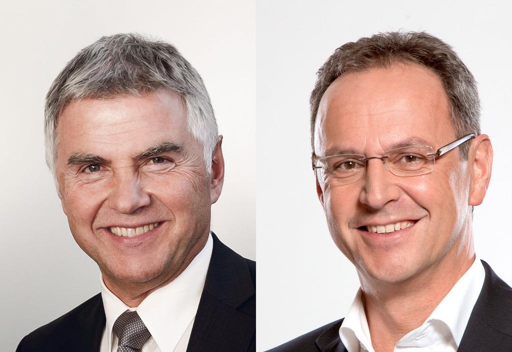 Langzeit-Vorsitzender des Landesabfallverbands Josef Moser (li.) geht in Pension. Ihm folgt Roland Wohlmuth (re.).