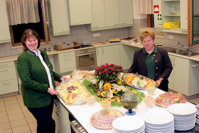 Das Buffet wurde von den Baier's aus Leobendorf angeliefert.