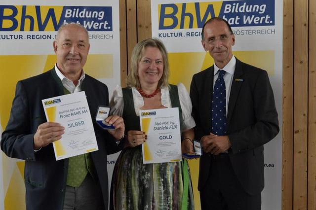 """""""Bildung hat Wert"""": Franz Raab, Daniela Fux und Peter Filzmaier."""